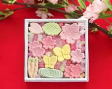 桜づくし 桜の干菓子