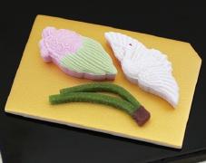 紅白・鶴亀松葉 干菓子