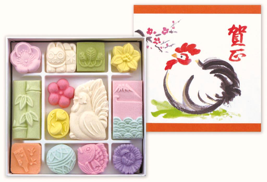 新年 お正月 干支の和菓子 干菓子 酉